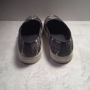 Vince Shoes - Vince Blair 5 Snakeskin Slip On Leather Sneakers